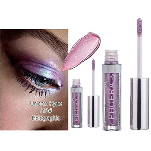 Glitter Liquid Eyeshadow 3D Metallic Shimmer and Glow Makeup