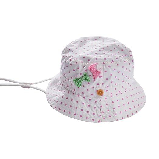 5ab2bcf228d Kid Girl s Sun Hats Little Girl s Sunmmer Hats Bucket Fisherman Hat 0-6t  (50cm