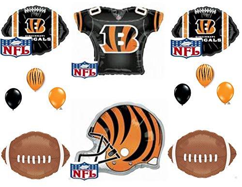 Cincinnati Bengals Helmet & Jersey Birthday Party Balloons Decoration Supplies
