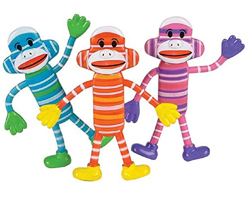 CUZAIL Party Favors Supplies- Bendable Figures Monkey - 4