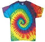toddler girls tie dye - Rainbow Colors Tie Dye Toddler Tee 2T, 3T, 4T 100% Pre-Shrunk Cotton (4T)