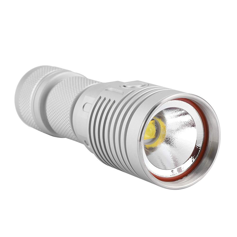Antorcha de alto brillo iluminaci/ón de emergencia para acampar en exteriores port/átil IPX8 impermeable linterna bater/ía 26650
