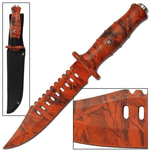 Chameleon-Decoy-Emergency-Orange-Camo-Bowie-Knife