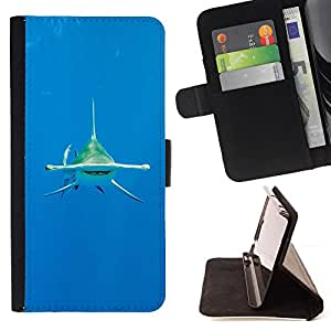 Shark Diving Ocean Tropical Water Sea - Painting Art Smile Face Style Design PU Leather Flip Stand Case Cover FOR LG G3 @ The Smurfs