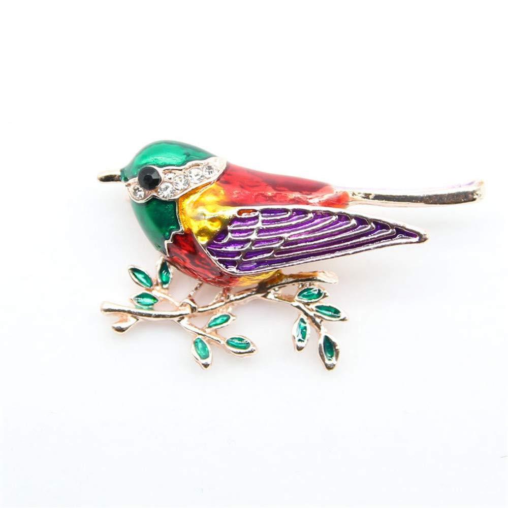 Couleur : Violet Zhongsufei Cadeau de la Saint Valentin Goutte Doiseau Color/é Broche Hirondelle Sparrow Pull Costume Couverture /Écharpe L Clip Dames Et Bijoux De Dames