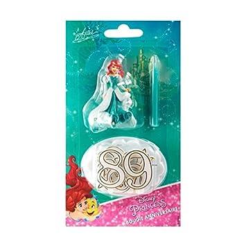 Devineau vela números cumpleaños figura plástico Ariel ...