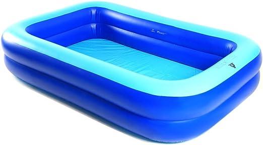 Hw bathtub Piscina hinchable transparente, material azul, PVC grueso, tamaño: pequeño: 200 145 50 cm, grande: 26016550 cm bañera: Amazon.es: Hogar
