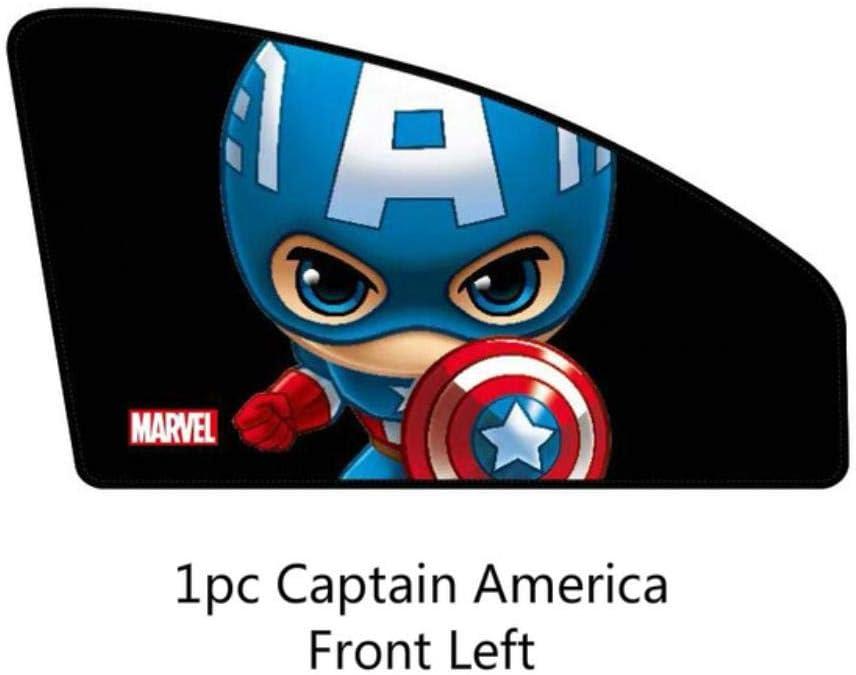 E XYLZJ Cubierta de la sombrilla de la Ventana del Coche Marvel The Avengers Parasol Lateral magn/ético de Dibujos Animados Cortina Parasol de Ventana Lateral Universal