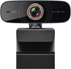 Full HD Webcam 1080p USB Streaming Web camera with Microphone for Laptop and Desktop Compatible for Mac OS Windows 10/8/7 for Zoom/Skype/FaceTime/Hangouts