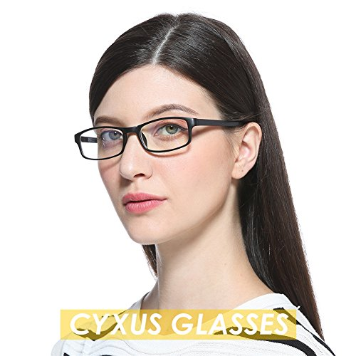 Cyxus Blue Light Blocking [Lightweight TR90] Glasses for Anti Eye Strain Headache Computer Use Eyewear, Men/Women (TR90 black) by Cyxus (Image #8)
