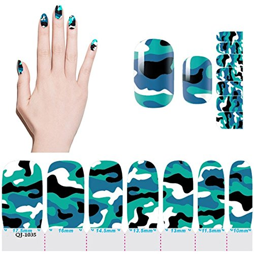 Picturesque Chic Polish Foils Fashion Full Art Decals Nail Stickers Model 05