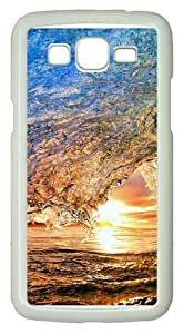 Colorful wave Polycarbonate Hard Case Cover for Samsung Grand 2/7106 White by supermalls