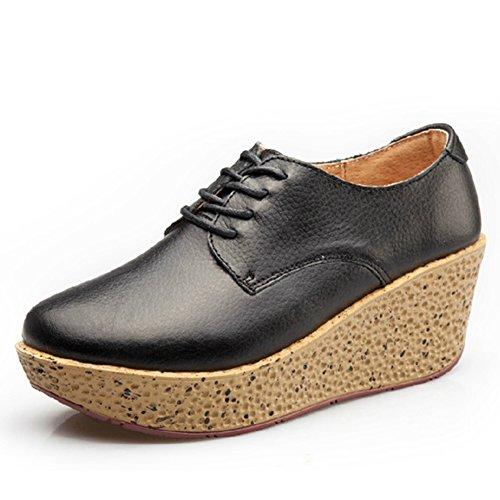 Cybling Fashion Platform Schoenen Voor Dames Comfort Dikke Zool Hoge Top Wedge Schoenen Zwart