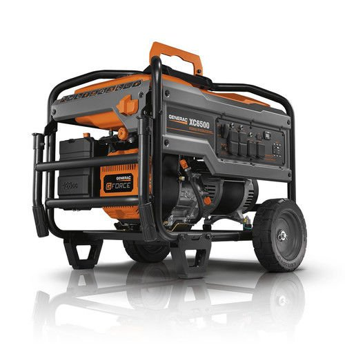 Generac 6825 XC6500E 6500 Running Watts/8125 Starting Watts Electric Start Gas Powered Portable Generator - CSA (Generac Electric Generators)