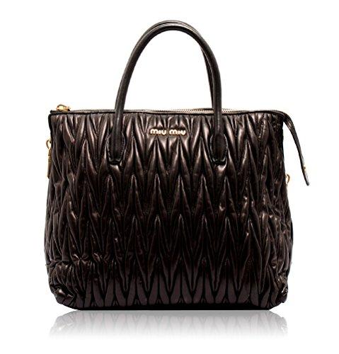 d7d20b8b30f1 Miu Miu Medium Tote Bag in Black Matelasse Leather RN1015 F0002 W41 - Buy  Online in UAE.