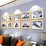 WUXK The living room solid wood photo wall creative european style bedroom photo wall-size photo frame Wall 8 Wall combination.
