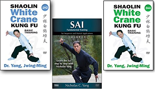 Bundle: Shaolin White Crane Kung Fu and Sai 3-DVD set (YMAA) Dr Yang, Jwing-Ming and Nicholas Yang by YMAA