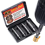 Amazon Lightning Deal 95% claimed: Damaged Screw Extractor and Remove Set by Aisxle,Easily Remove Stripped or Damaged Screws. Made From H.S.S. 4341#, the Hardness Is 62-63hrc,Set of 4 Stripped Screw Removers