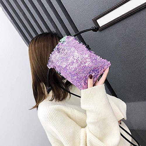 Pequeños Púrpura Rlfs Con Bolsos Cordón Lentejuelas Hombro De Bandolera Bolsas Mujer Mensajero OxOzwP