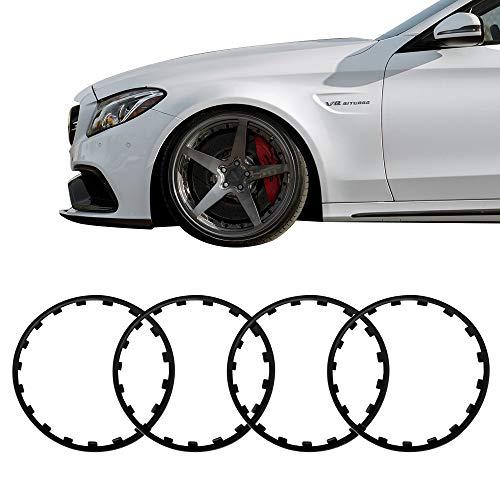 Wheel Centre Hub Collision Decorative Protection Stripe Ring 18inch Black Nylon
