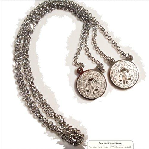 886ef5d46db9 Caliente de la venta Medalla de la protección de Santo Benedict  escapulario. Acero inoxidable.