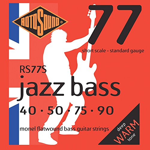 Rotosound RS77S Monel Flatwound Short-Scale Bass Guitar Strings - Short Scale Guitar Strings