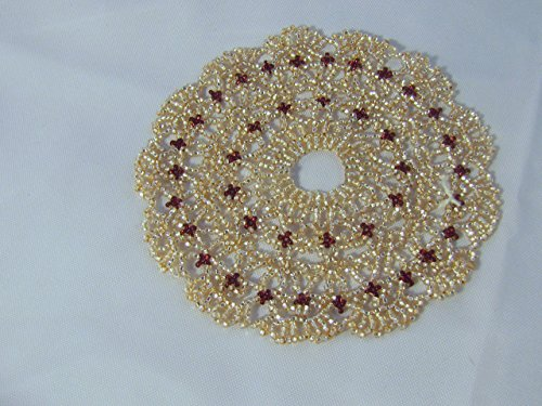 d dark red (Beaded Doily)