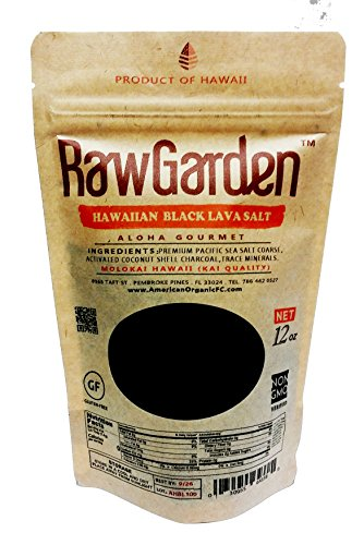 Raw Garden 4 Pack (12 oz Each) Coarse,Hawaiian Black Lava, Red Alea, Green Bamboo, Himalayan Pink Coarse Salt Gourmet Variety Total 3 lbs by Raw Garden (Image #3)