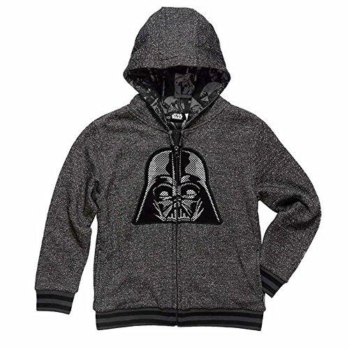 Boys Darth Vader Hoodie Zip Sweatshirt (S (7/8)) (Darth Vader Life)