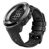 "MoKo Suunto Ambit3 Vertical Watch Band, Replacement Silicone Wristband Bracelet Strap for Suunto Traverse Alpha / Suunto Ambit3 Vertical / Suunto Spartan Sport Wrist HR, Fits 3.93""-9.06"" Wrist, Black"