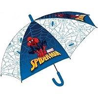 Paraguas de Spiderman Grande Automático transparente azul 44 cm infantil Marvel