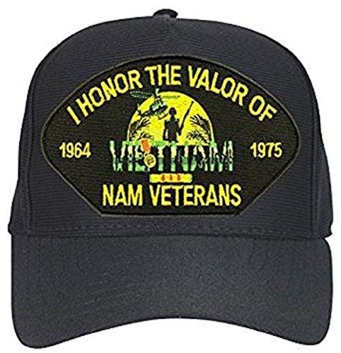 I Honor the Valor of Vietnam Veterans 1964-1975 Black Ball Cap ()