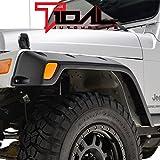 tj pocket fender flares - Tidal 97-06 Jeep Wrangler TJ / LJ Matte Black Pocket Style Front + Rear Fender Flares