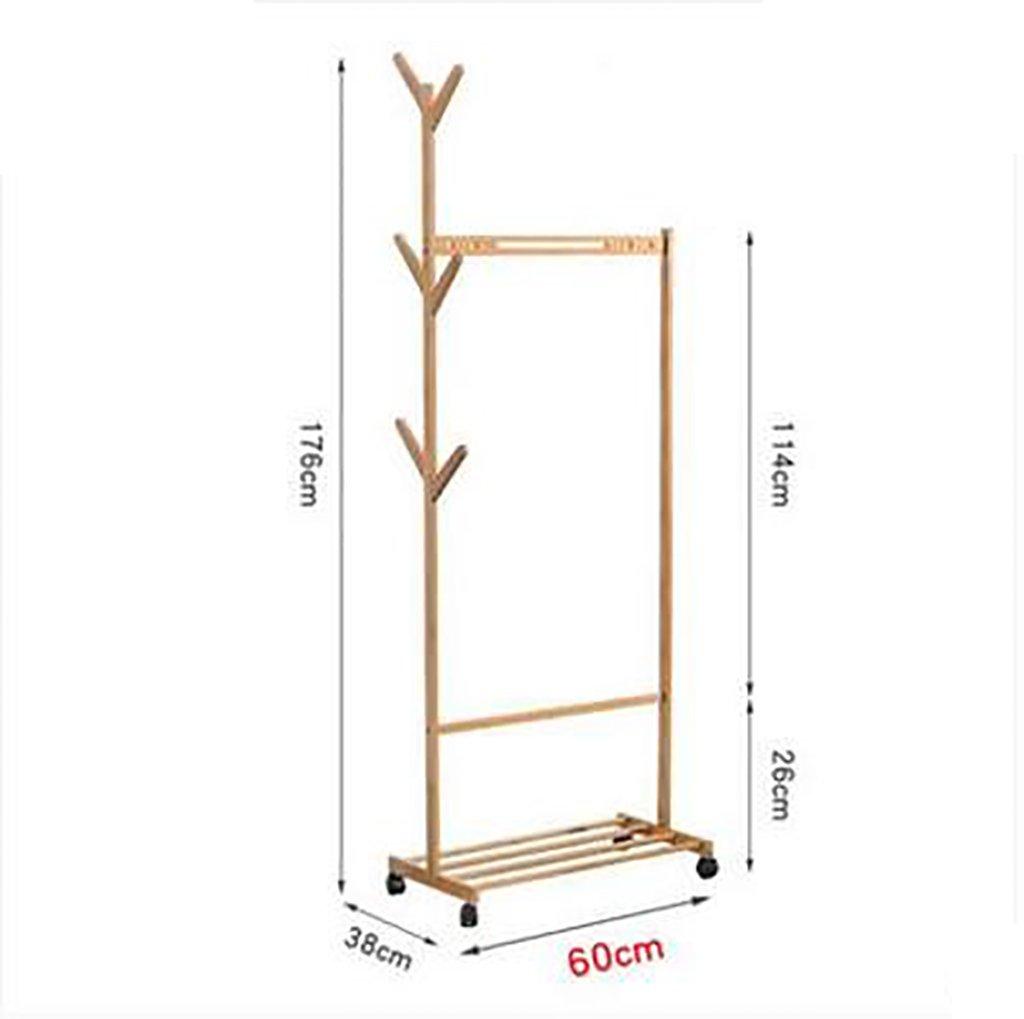 6038176cm Coat Stand,Housewares Standing Coat and Hat Rack Bamboo Wooden Creative Storage Shelves Hanger (Size   10038176cm)