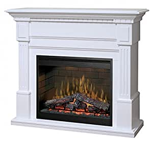 Amazon.com: Dimplex Essex Electric Fireplace in White: Home & Kitchen