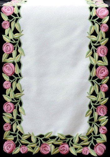 Table Runner (Small) in a Rennie Mack Pink Rose Design