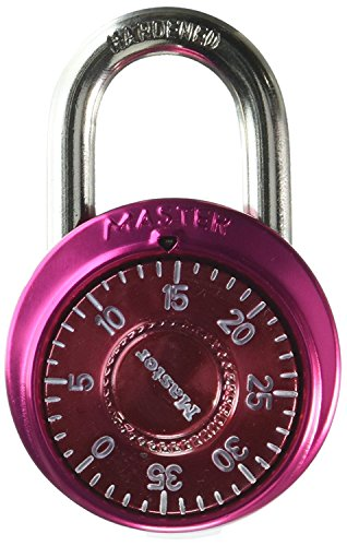 Master Lock 1530DCM 25 Pack 1-7/8in. Combination Dial Padlock with Aluminum Cover by Master Lock