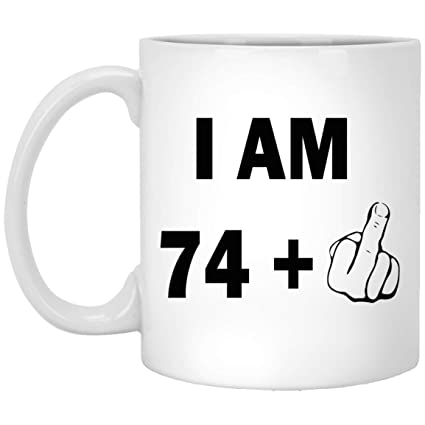 511e799cdfa Image Unavailable. Image not available for. Color  75th birthday mug