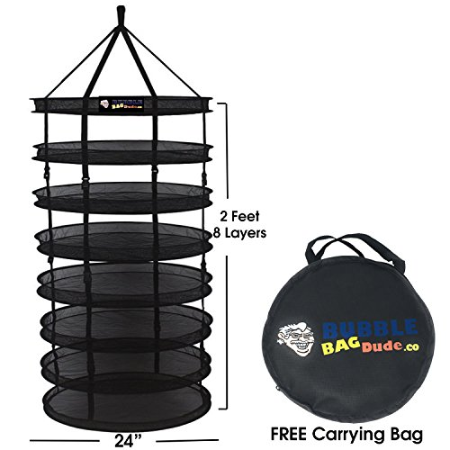 BUBBLEBAGDUDE Herb Drying Rack 2 FT 8 Layer Collapsible Mesh