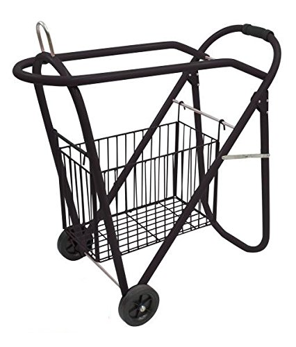 Rolling Saddle Cart - Western Or English Black Saddle Rack And Tack Basket