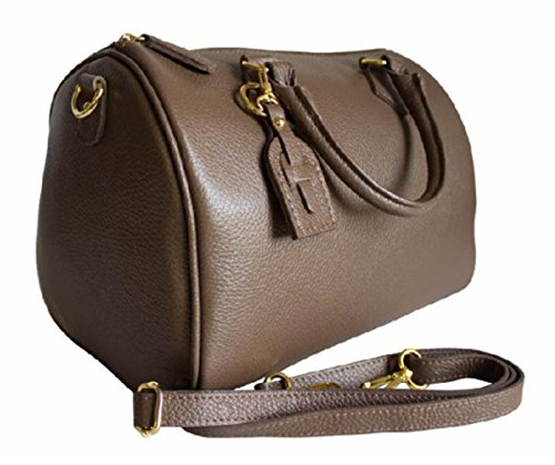 Vera Donna In In Made Italy Taupe Pelle Bauletto Mano A Borsa Trin Superflybags modello YqwCZY