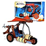 "Mattel Year 2006 Nickelodeon Animated Series ""Avatar The Last Airbender"" Air Series Vehicle Set - AIR ATTACK BATTLE GLIDER with Pop-Open Wings, Dual Air Blast Launchers, 2 Air Blast Missiles and Grappling Hook (Dimension: 10"" x 5"" x 7"")"