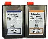 Liquid Urethane Foam Kit, 8 Lb Density, Includes 1 Quart Part A & 1 Quart Part B