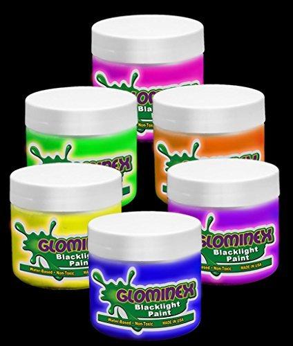 Glominex Blacklight UV Paint Assorted Pints - 6