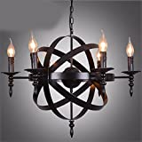 HQLCX Chandelier American Country Cage Candle Chandelier Iron Retro Loft Industrial Wind Chandelier