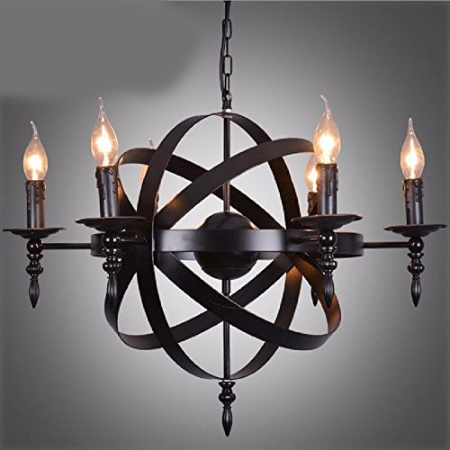 HQLCX Chandelier American Country Cage Candle Chandelier Iron Retro Loft Industrial Wind Chandelier by HQLCX-Chandeliers