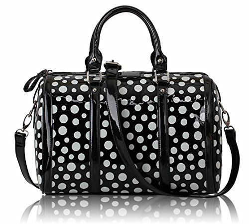 Ladies Women's Cute Fashion Dot Bags Handbags Designer Chic Quality Bag LS0069 Black Dot