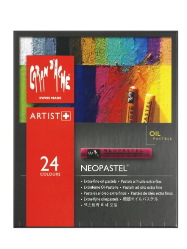 Caran D'ache Neopastel Oil Pastels Set Of 24 (7400.324) by Caran d'Ache