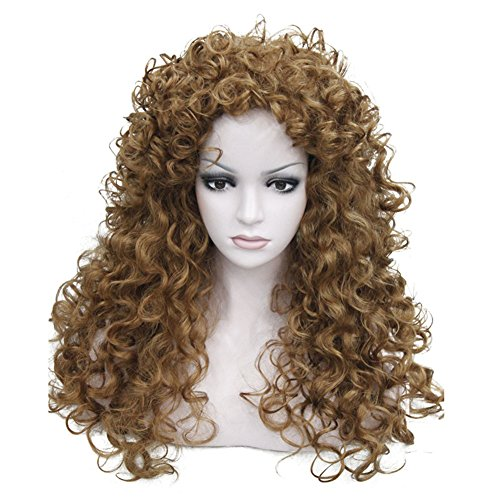 Aimole Synthetic Heat Resistant Hair Long Curly Wigs Cosplay Women Wig(27-Strawberry -