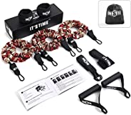INNSTAR Resistance Bands Set, Exercise Bands with Protective Sleeves, Door Anchor, Handles, Ankle Straps &